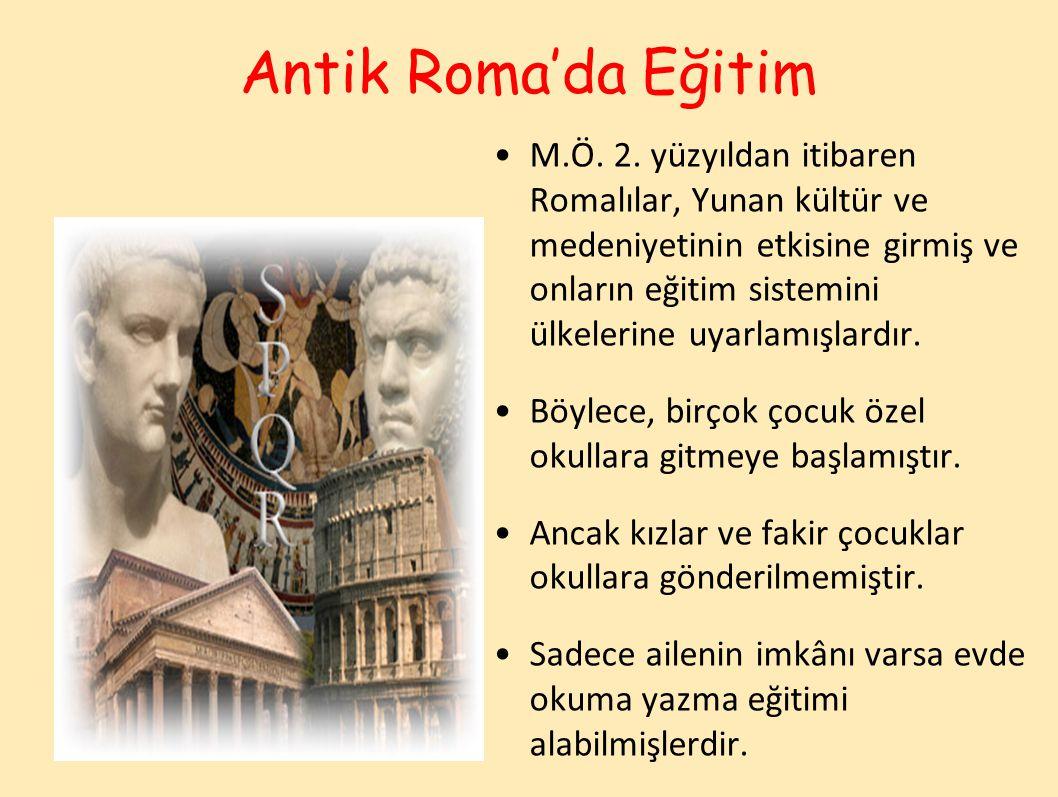 Antik Roma'da Eğitim M.Ö.2.