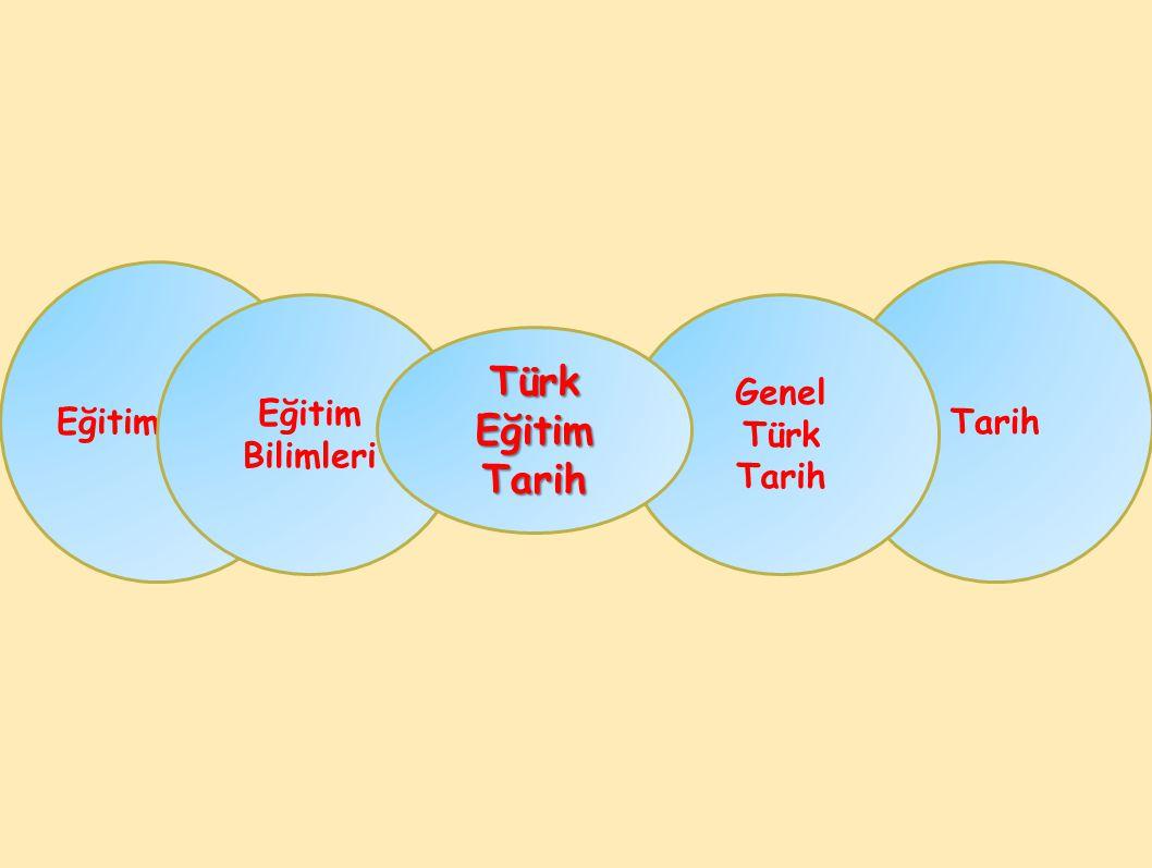 Tarih Genel Türk Tarih Eğitim Bilimleri Türk Eğitim Tarih