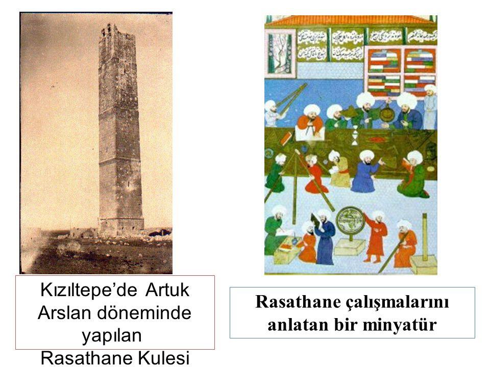 Kızıltepe'de Artuk Arslan döneminde yapılan Rasathane Kulesi Rasathane çalışmalarını anlatan bir minyatür