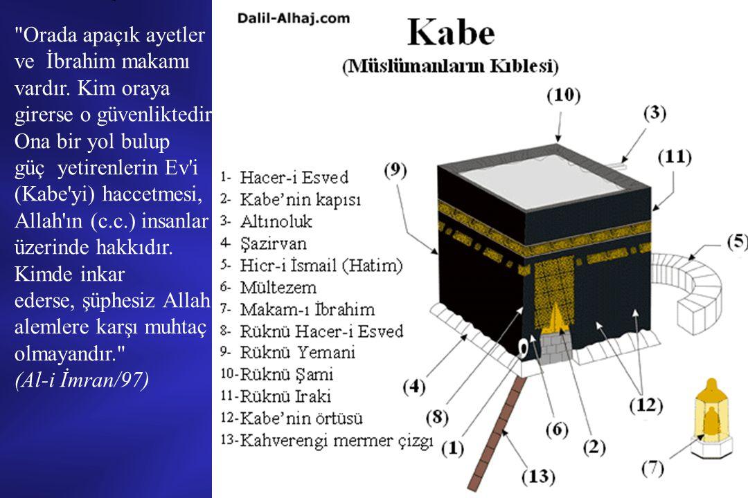 HACCIN FARZLARI Haccın farzları, birisi şart ikisi rükün olmak üzere üçtür: 1) İhrama girmek (şarttır), 2) Arafatta vakfe, 3) Ziyaret tavafı.