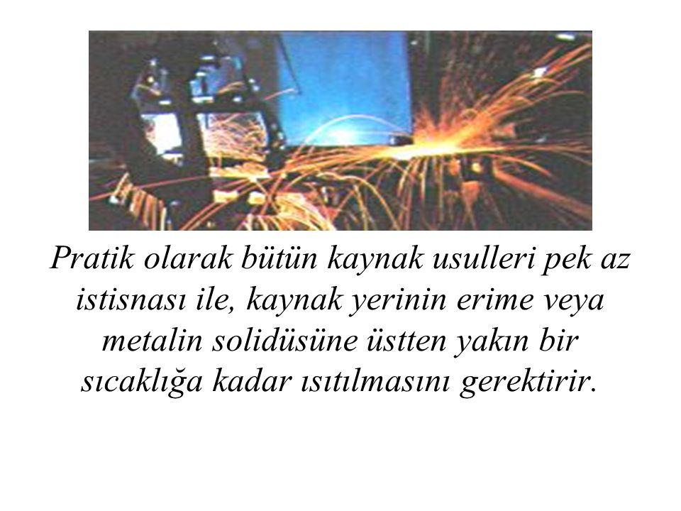 b) Kaynak kablosu Aşırı yüklenen kaynak kablolarında kuvvetli bir ısınma meydana gelir ve kablonun izolasyonu yumuşar ve hatta yanabilir.