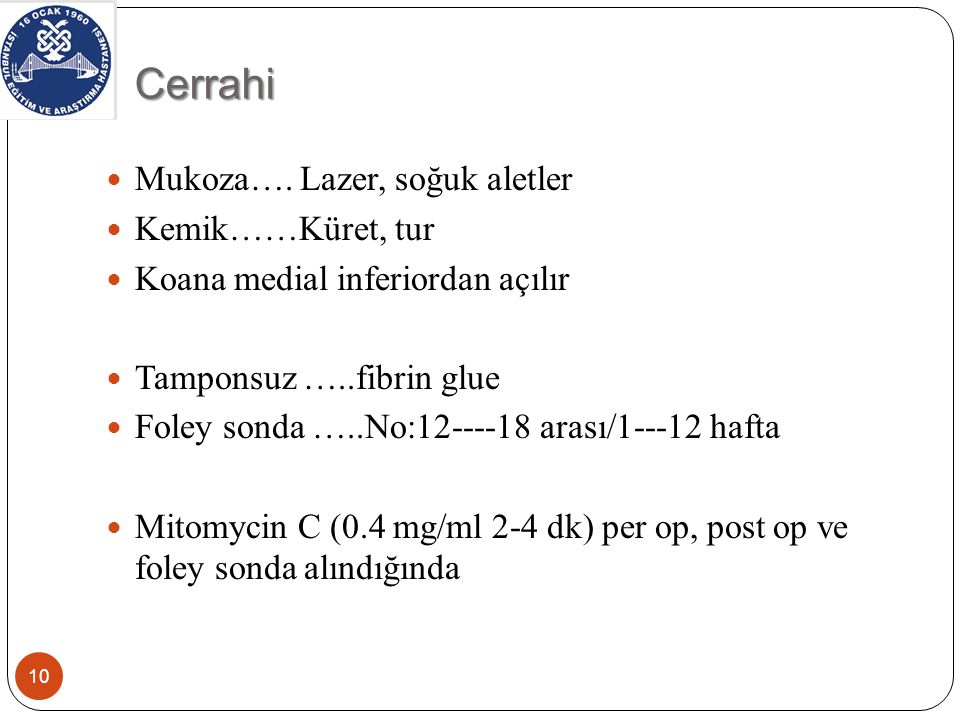Cerrahi 10 Mukoza….