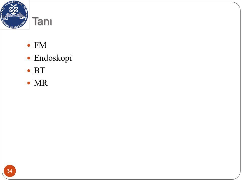 Tanı 34 FM Endoskopi BT MR
