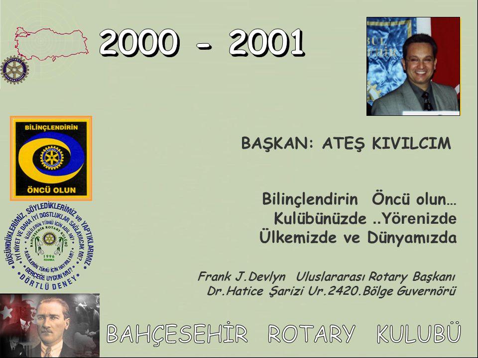 ARTIK ULUSLARARASI ROTARY ÜYESİYİZ..