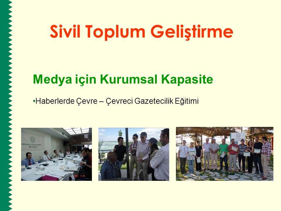 Sivil Toplum Geliştirme Medya için Kurumsal Kapasite Haberlerde Çevre – Çevreci Gazetecilik Eğitimi