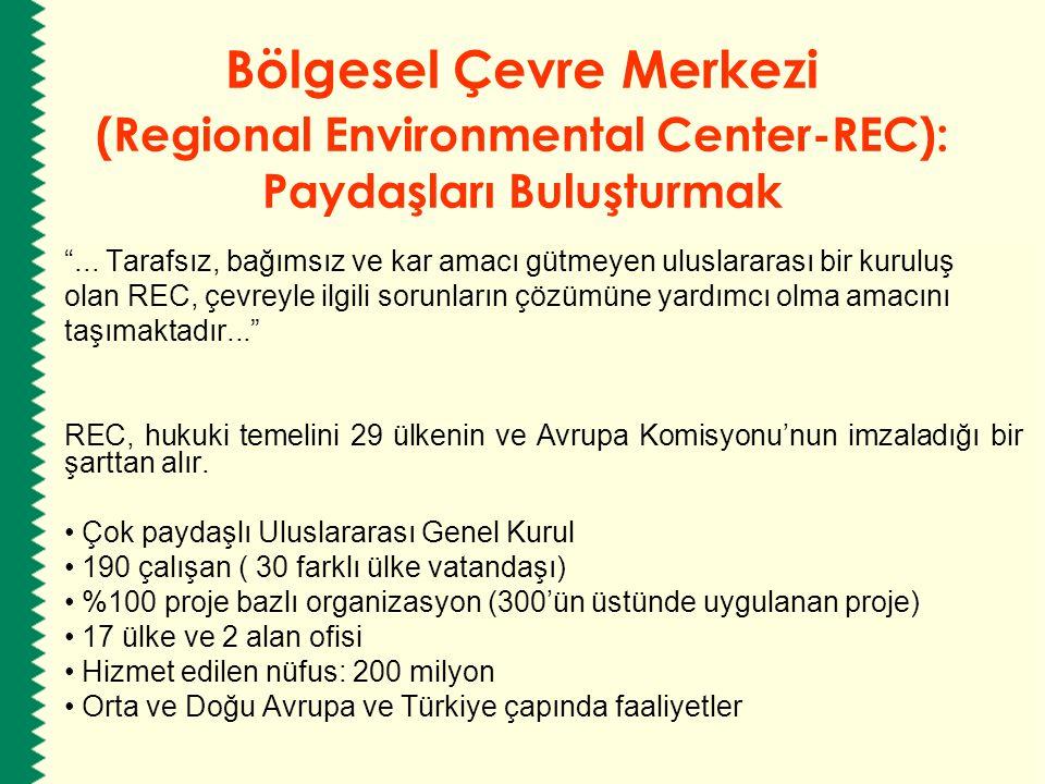 """Bölgesel Çevre Merkezi (Regional Environmental Center-REC): Paydaşları Buluşturmak """"... Tarafsız, bağımsız ve kar amacı gütmeyen uluslararası bir kuru"""