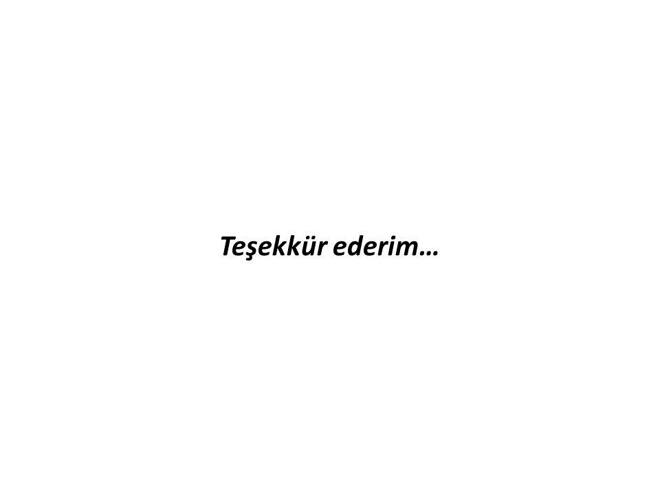 Teşekkür ederim…