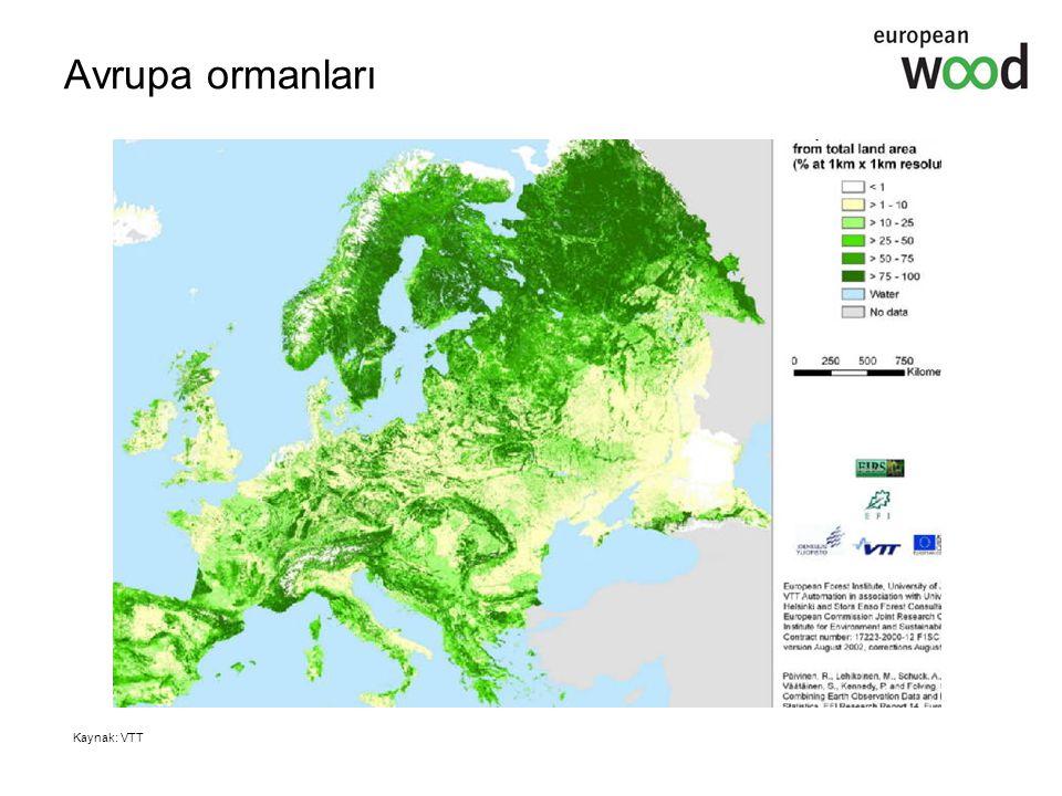Ormanlar büyüyor Avrupa ormanları yıllık 510 000 hektar hızında büyüyor AB 25 ormanlarının yalnızca %64'lük bir bölümü işleniyor