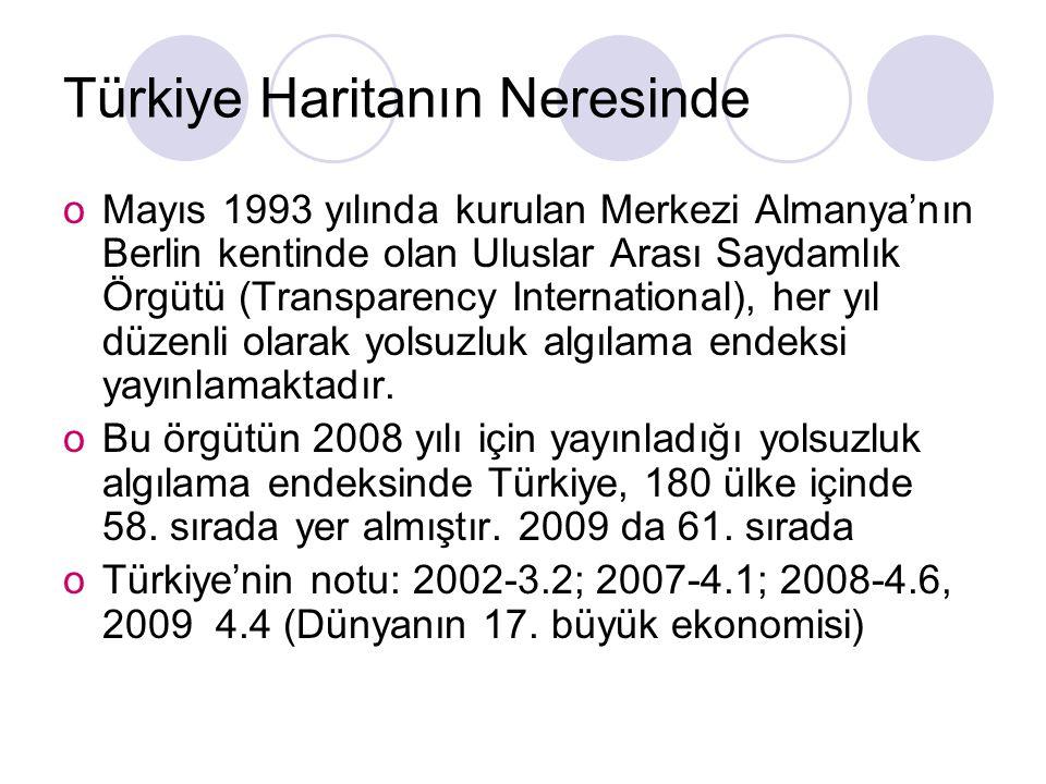 Türkiye Haritanın Neresinde oMayıs 1993 yılında kurulan Merkezi Almanya'nın Berlin kentinde olan Uluslar Arası Saydamlık Örgütü (Transparency Internat