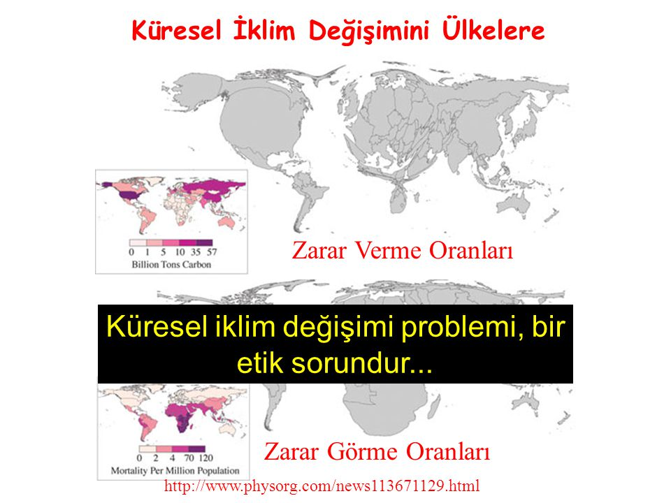 Zarar Görme Oranları http://www.physorg.com/news113671129.html Zarar Verme Oranları Küresel İklim Değişimini Ülkelere Küresel iklim değişimi problemi,