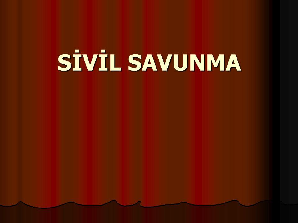 SİVİL SAVUNMANIN TARİHÇESİ SİVİL SAVUNMANIN TARİHÇESİ ► Sivil Savunmanın 60-70 yıllık bir geçmişi vardır.