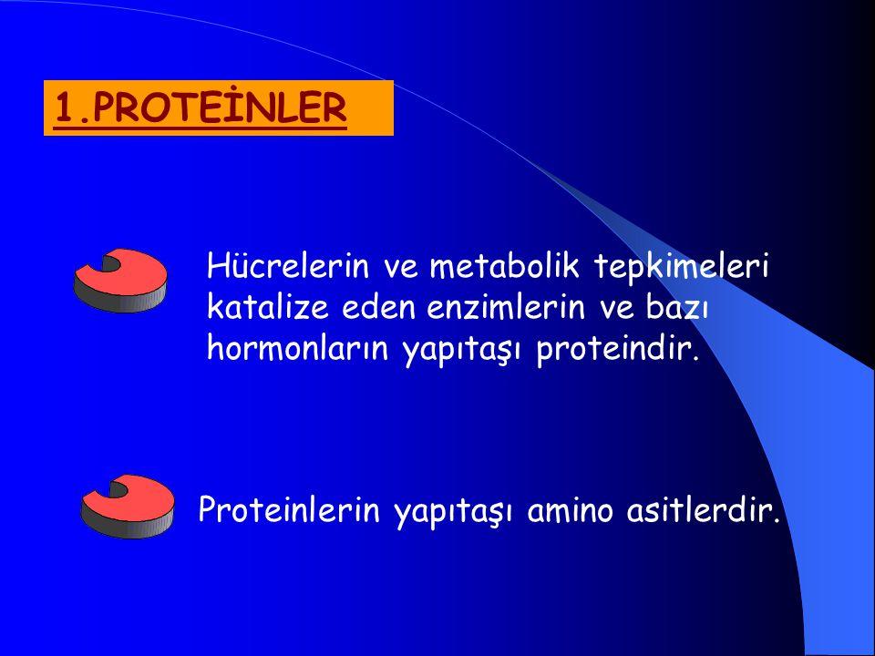 5.VİTAMİNLER Büyüme ve yaşamın sürdürülmesi için gerekli organik bileşiklerdir.