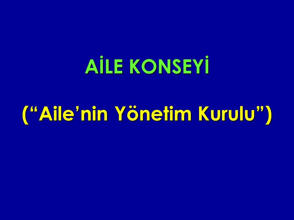 """AİLE KONSEYİ (""""Aile'nin Yönetim Kurulu"""")"""