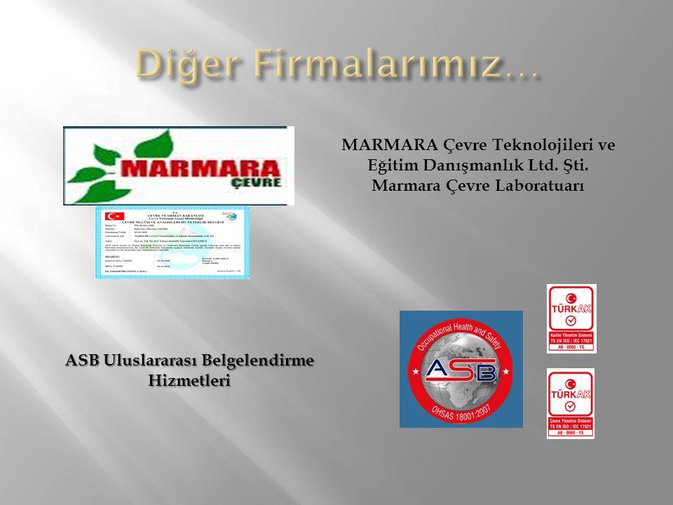 ASB Uluslararası Belgelendirme Hizmetleri MARMARA Çevre Teknolojileri ve Eğitim Danışmanlık Ltd. Şti. Marmara Çevre Laboratuarı