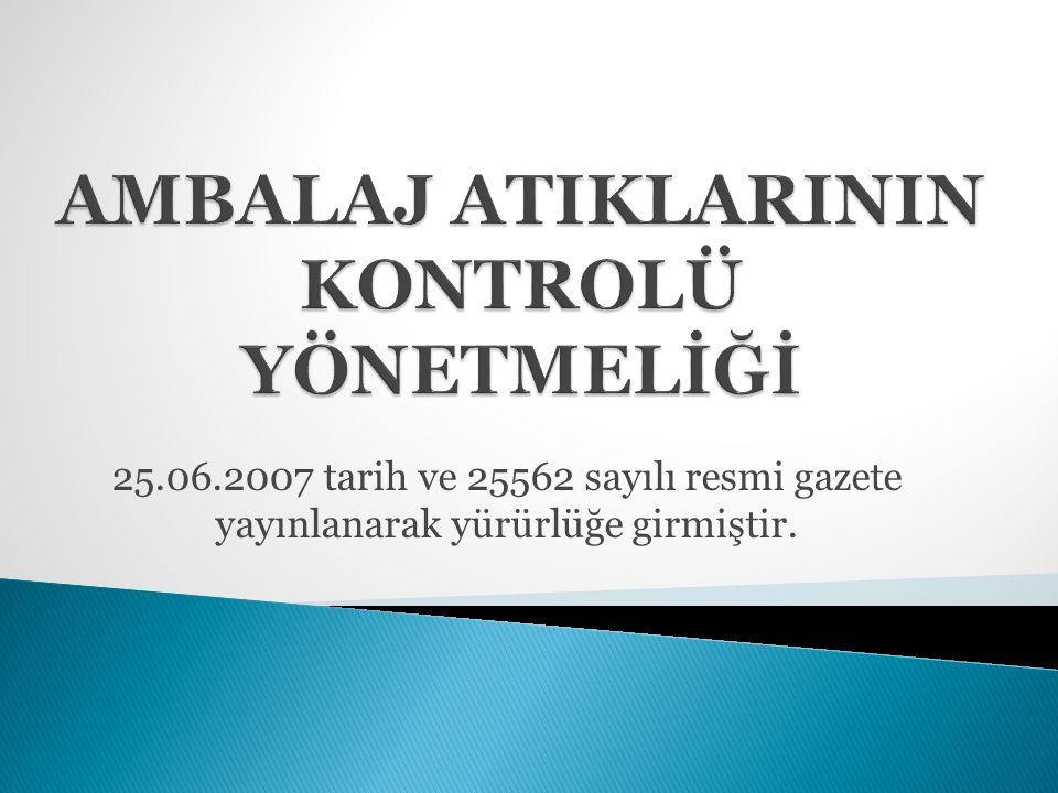 25.06.2007 tarih ve 25562 sayılı resmi gazete yayınlanarak yürürlüğe girmiştir.