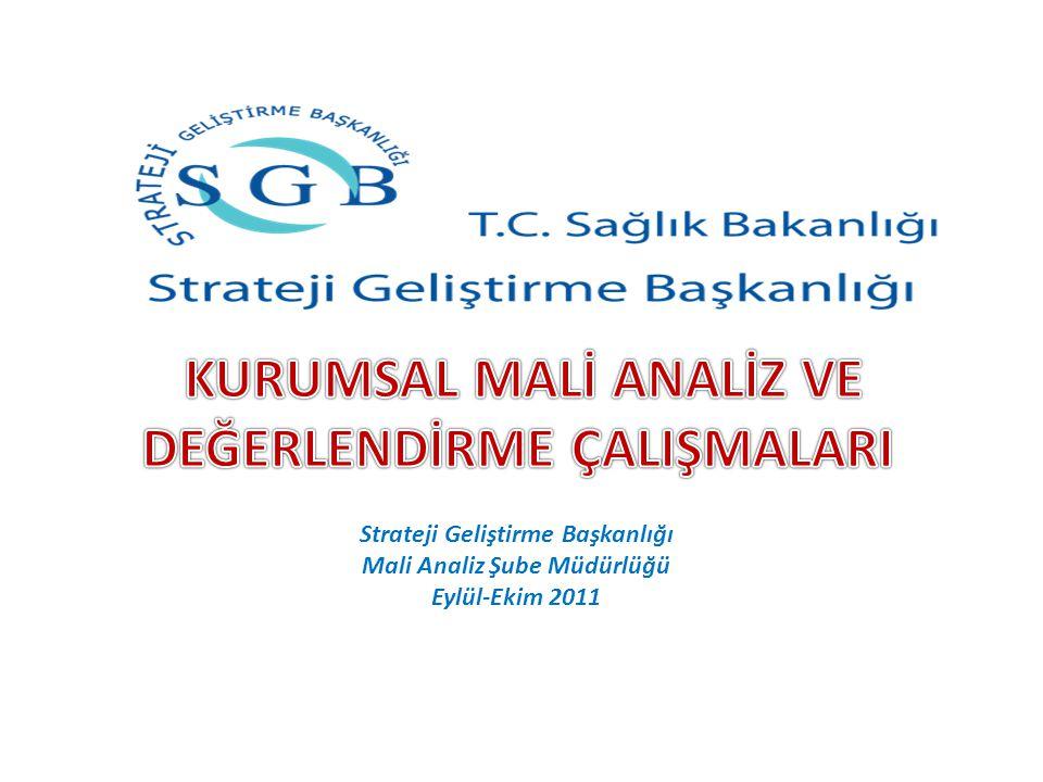 Strateji Geliştirme Başkanlığı Mali Analiz Şube Müdürlüğü Eylül-Ekim 2011