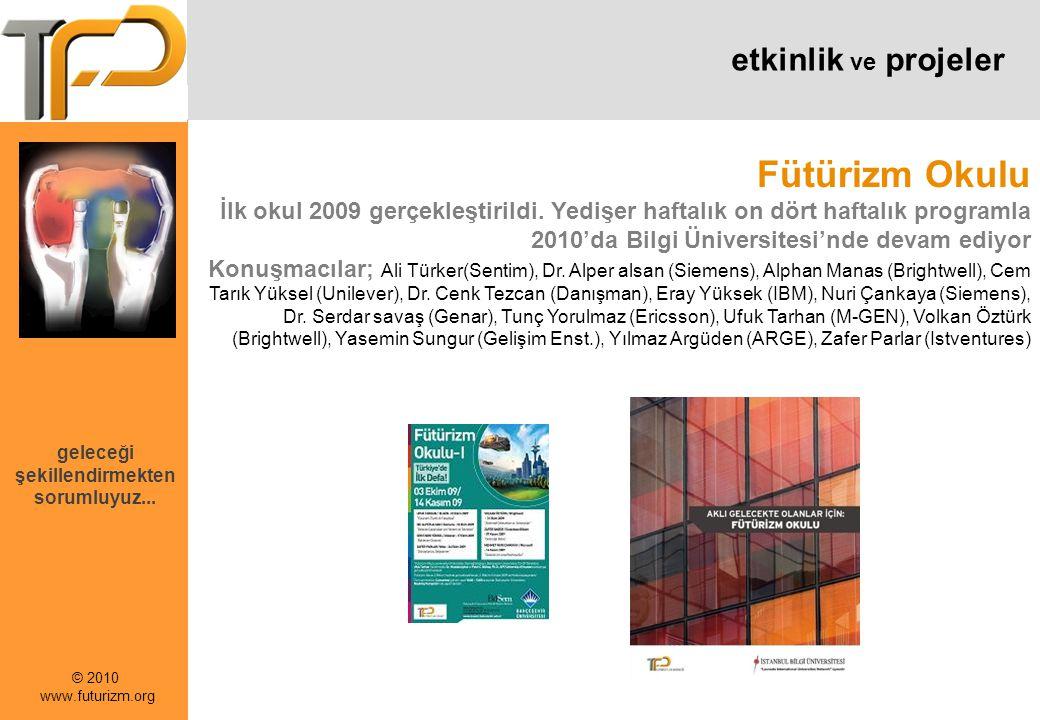 © 2010 www.futurizm.org geleceği şekillendirmekten sorumluyuz...