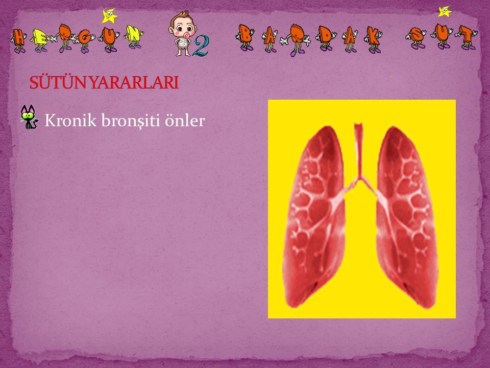 Kronik bronşiti önler