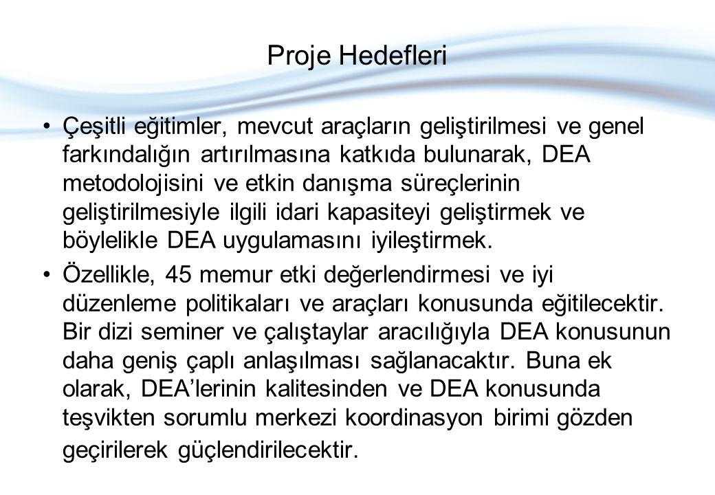 DEA Proje Bileşenleri