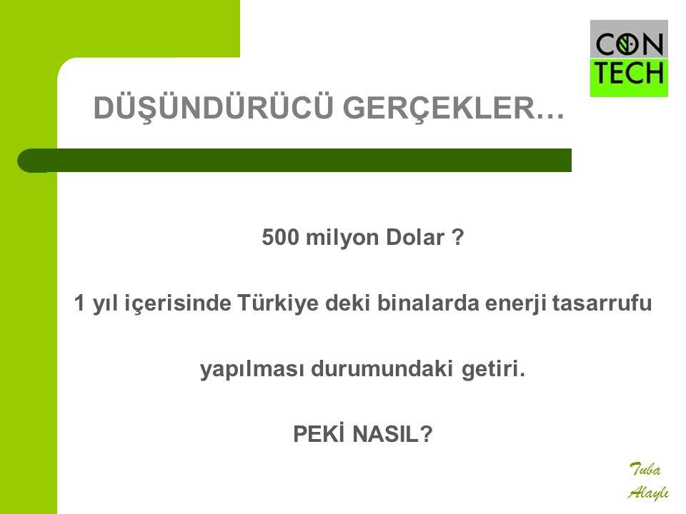 500 milyon Dolar ? 1 yıl içerisinde Türkiye deki binalarda enerji tasarrufu yapılması durumundaki getiri. PEKİ NASIL? Tuba Alaylı DÜŞÜNDÜRÜCÜ GERÇEKLE