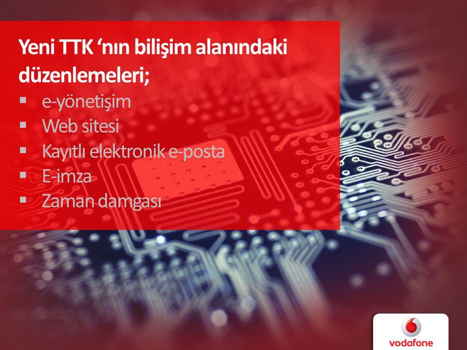 Yeni TTK 'nın bilişim alanındaki düzenlemeleri;  e-yönetişim  Web sitesi  Kayıtlı elektronik e-posta  E-imza  Zaman damgası