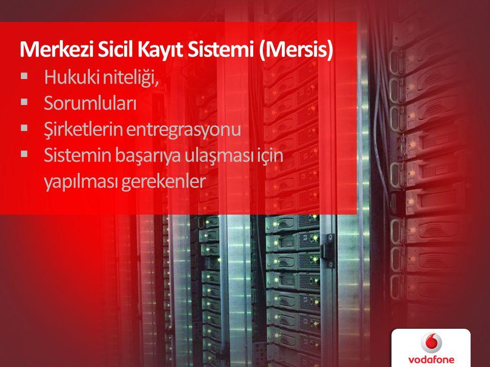 Merkezi Sicil Kayıt Sistemi (Mersis)  Hukuki niteliği,  Sorumluları  Şirketlerin entregrasyonu  Sistemin başarıya ulaşması için yapılması gerekenler