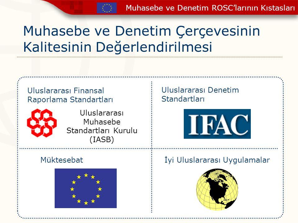 Muhasebe ve Denetim Çerçevesinin Kalitesinin Değerlendirilmesi Uluslararası Finansal Raporlama Standartları Uluslararası Denetim Standartları Mükteseb
