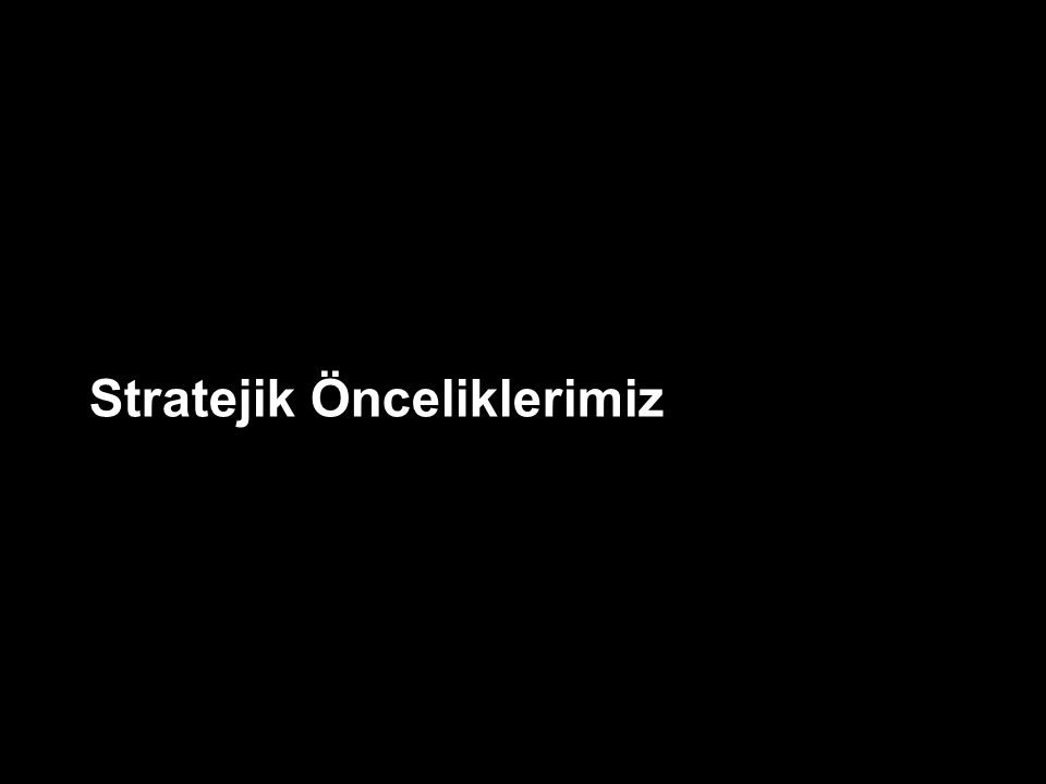 6 Türkiye BİT sektörü mevcut kırılım Türkiye BİT sektörü hedefi (Dünya ort.) Mevcut dağılım üzerinde geleceği inşa etmemiz mümkün değildir.