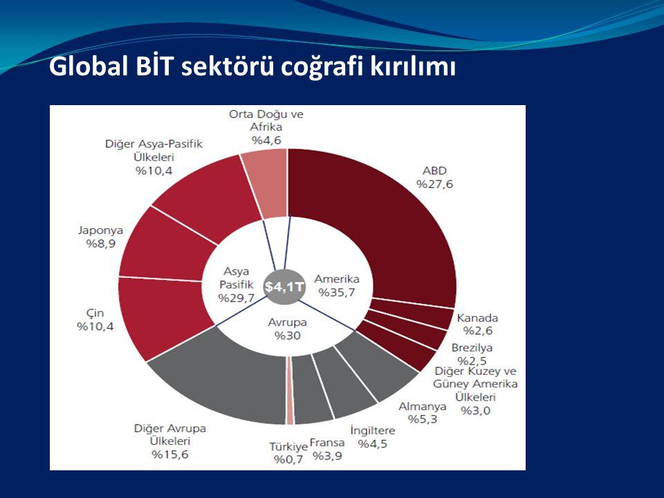 Global BİT sektörü coğrafi kırılımı