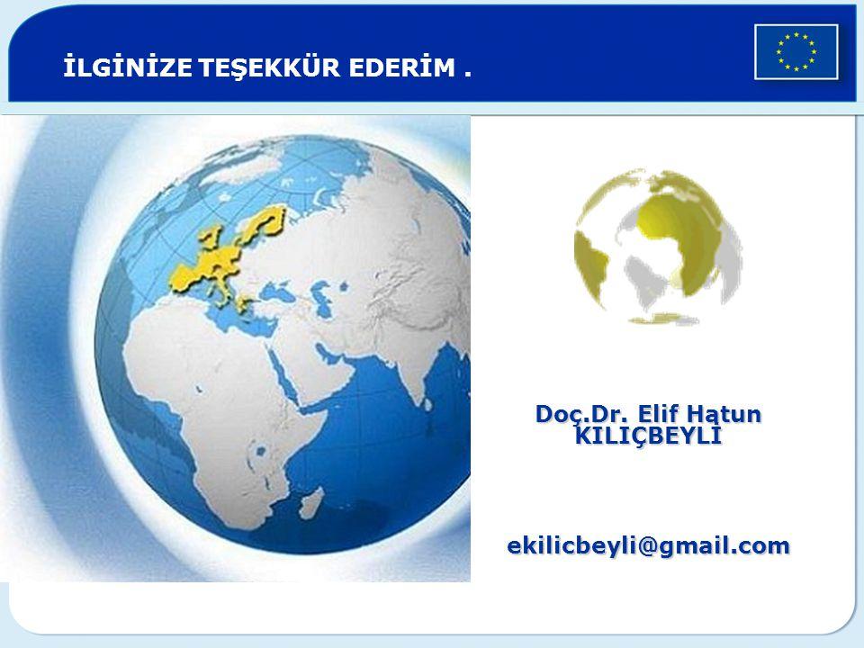Doç.Dr. Elif Hatun KILIÇBEYLİ ekilicbeyli@gmail.com İLGİNİZE TEŞEKKÜR EDERİM.