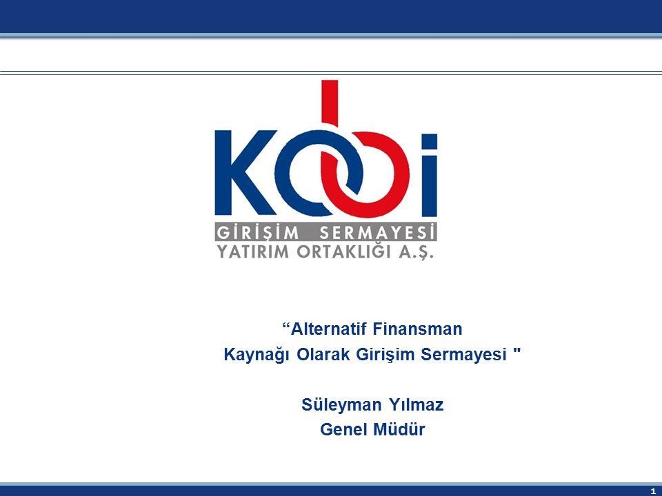 """1 """"Alternatif Finansman Kaynağı Olarak Girişim Sermayesi"""