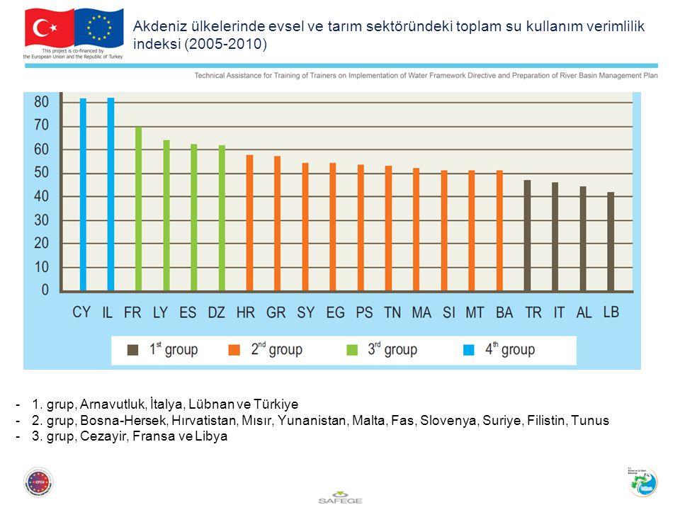 Akdeniz ülkelerinde evsel ve tarım sektöründeki toplam su kullanım verimlilik indeksi (2005-2010) -1.