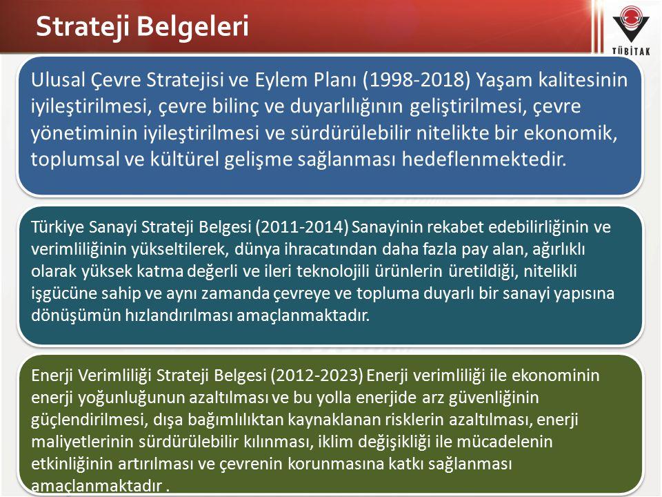 5 Strateji Belgeleri Ulusal Çevre Stratejisi ve Eylem Planı (1998-2018) Yaşam kalitesinin iyileştirilmesi, çevre bilinç ve duyarlılığının geliştirilme