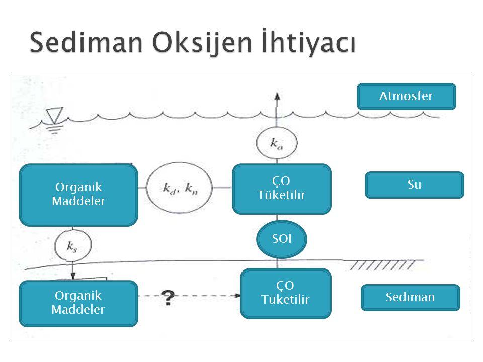 Atmosfer Su Sediman ÇO Tüketilir ÇO Tüketilir SOİ Organik Maddeler