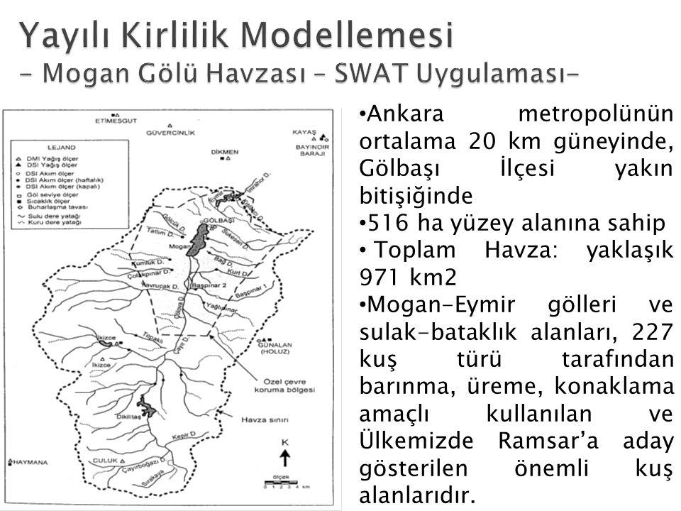 Ankara metropolünün ortalama 20 km güneyinde, Gölbaşı İlçesi yakın bitişiğinde 516 ha yüzey alanına sahip Toplam Havza: yaklaşık 971 km2 Mogan-Eymir g
