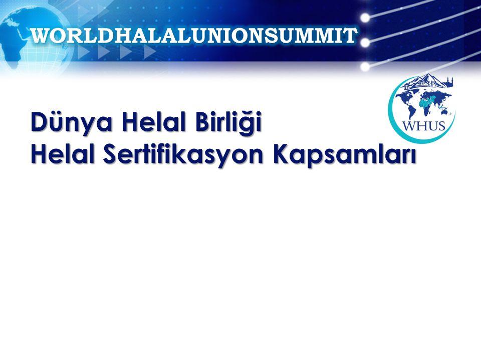 Dünya Helal Birliği Helal Sertifikasyon Kapsamları
