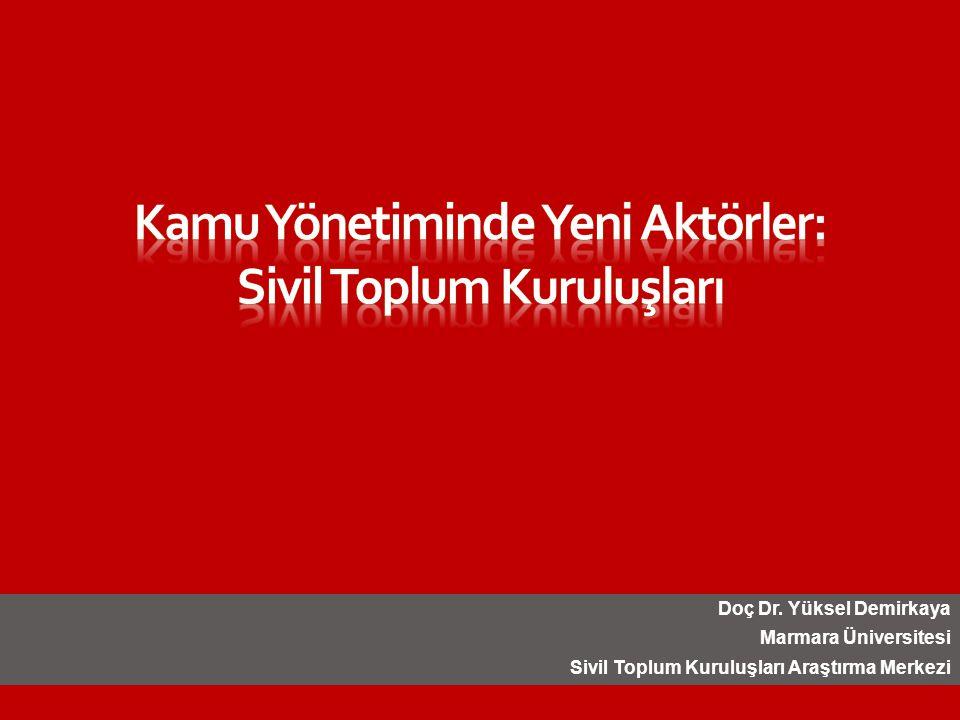 Doç Dr. Yüksel Demirkaya Marmara Üniversitesi Sivil Toplum Kuruluşları Araştırma Merkezi