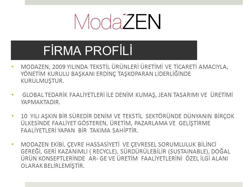  Modazen' in geliştirdiği kumaş ve jean ürünlerin ekolojik kazanımı oldukça yüksektir.