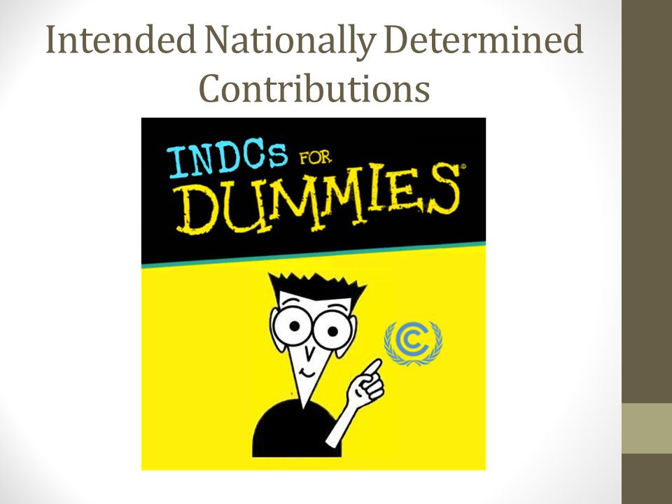 Intended Nationally Determined Contributions