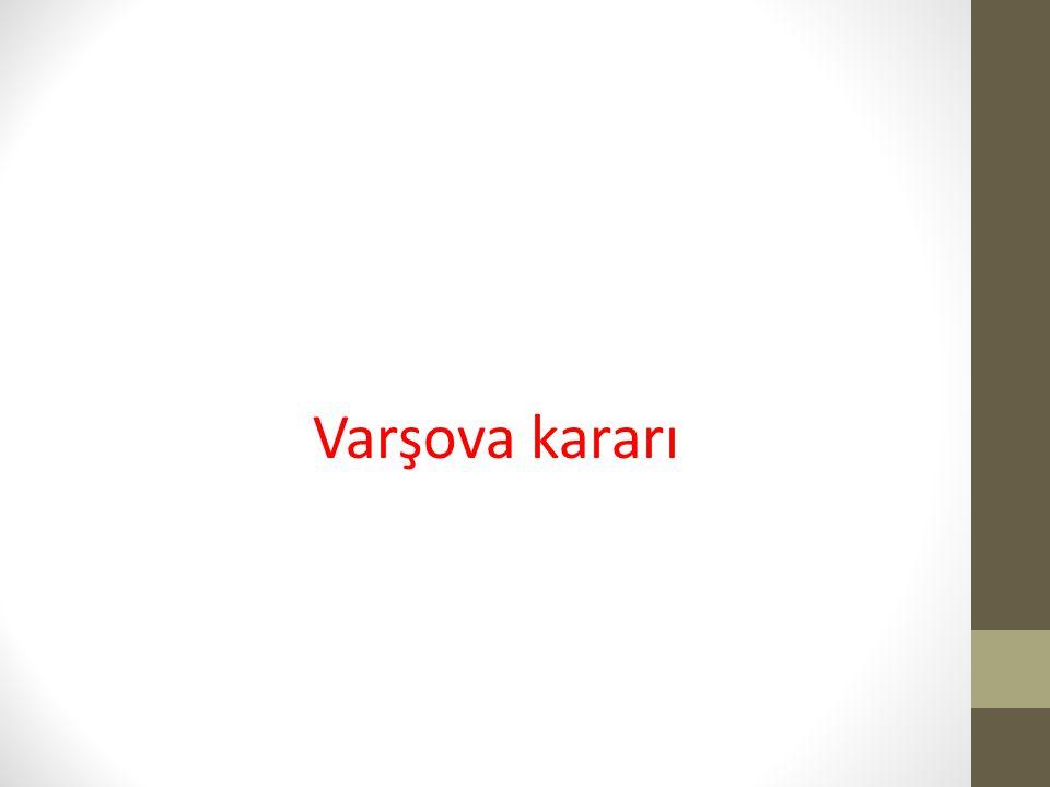 Varşova kararı