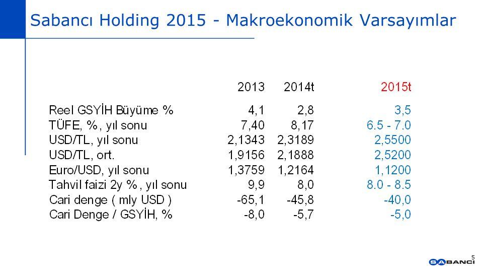 Sabancı Holding 2015 - Makroekonomik Varsayımlar 5