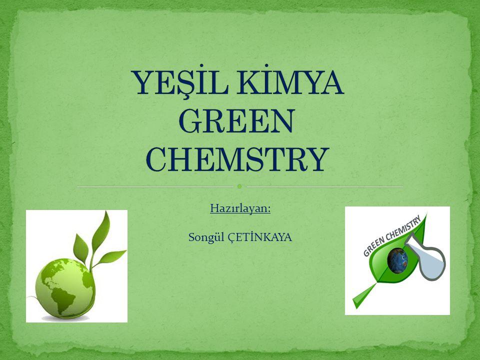 Son yıllarda kimya endüstrisinin bir imaj sorunu olduğu kesin.