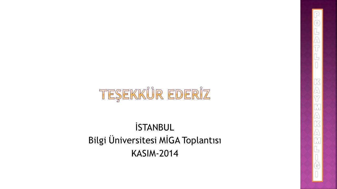 İSTANBUL Bilgi Üniversitesi MİGA Toplantısı KASIM-2014