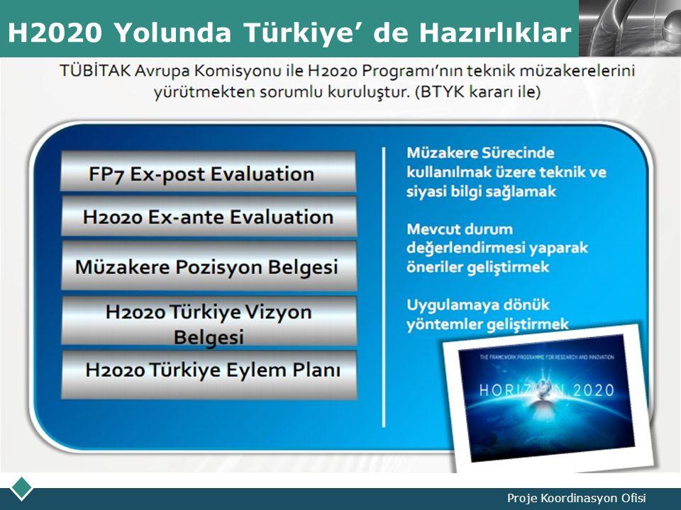LOGO H2020 Yolunda Türkiye' de Hazırlıklar Proje Koordinasyon Ofisi