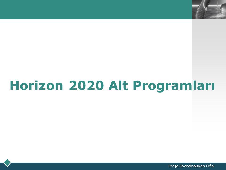 LOGO Proje Koordinasyon Ofisi Horizon 2020 Alt Programları