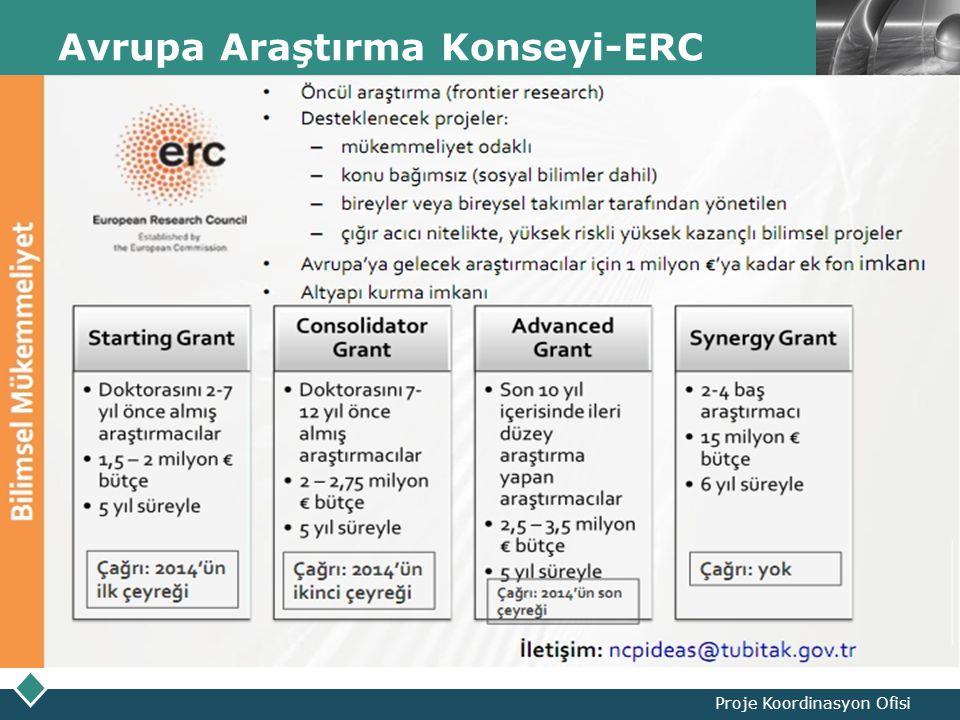 LOGO Avrupa Araştırma Konseyi-ERC Proje Koordinasyon Ofisi
