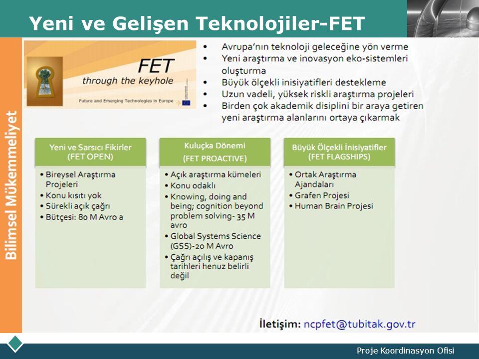 LOGO Yeni ve Gelişen Teknolojiler-FET Proje Koordinasyon Ofisi