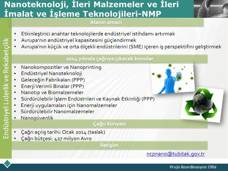 LOGO Nanoteknoloji, İleri Malzemeler ve İleri İmalat ve İşleme Teknolojileri-NMP Proje Koordinasyon Ofisi