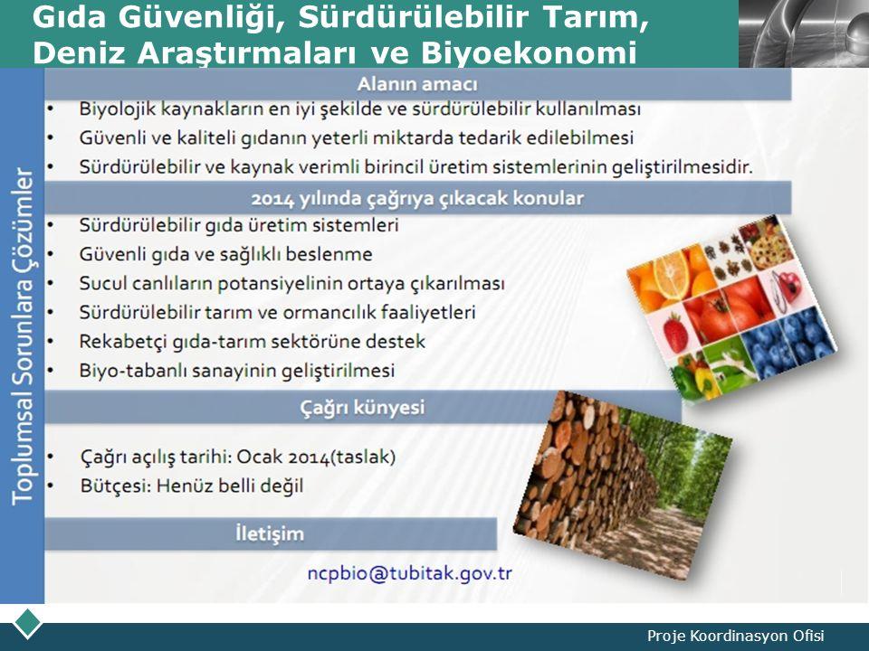 LOGO Gıda Güvenliği, Sürdürülebilir Tarım, Deniz Araştırmaları ve Biyoekonomi Proje Koordinasyon Ofisi