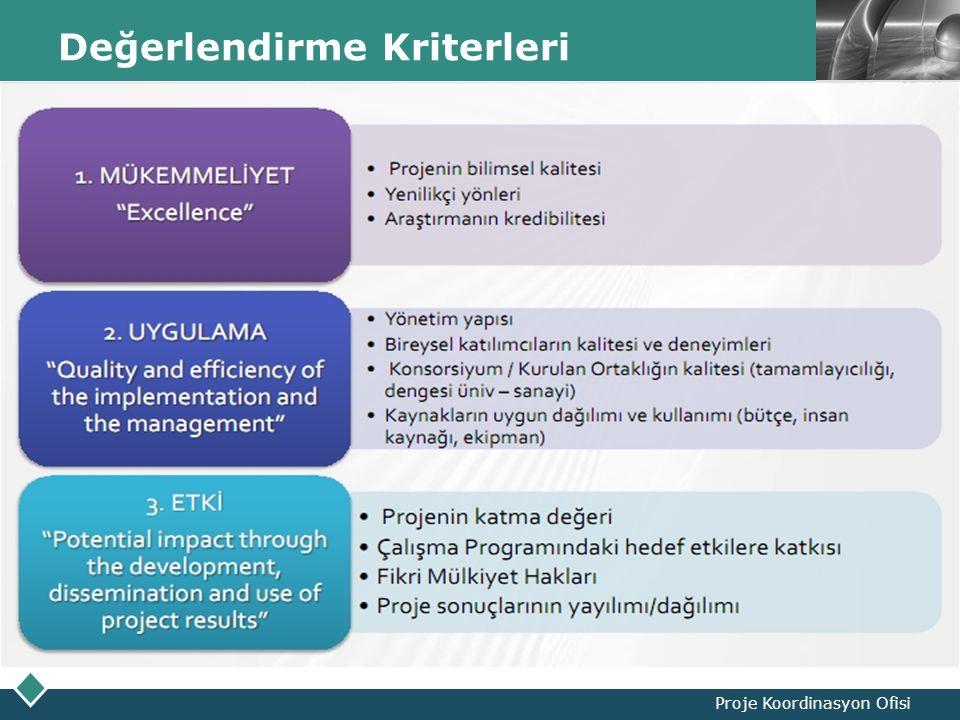 LOGO Değerlendirme Kriterleri Proje Koordinasyon Ofisi